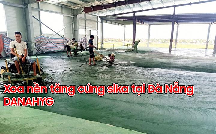 Xoa nền rải tăng cứng sika tại Đà Nẵng