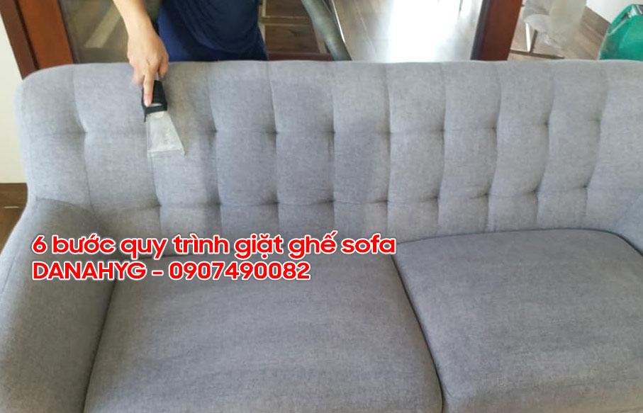 Quy trình giặt ghế sofa hiệu quả