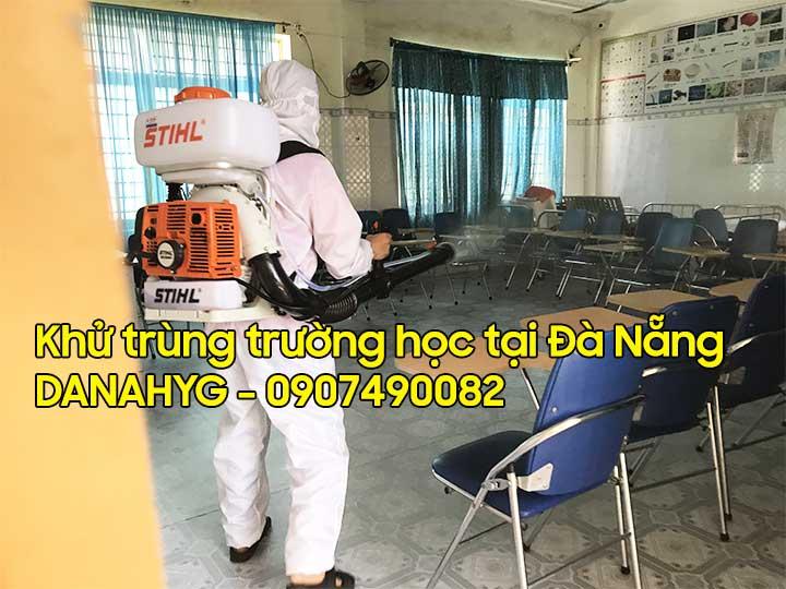 Khử trùng trường học tại Đà Nẵng