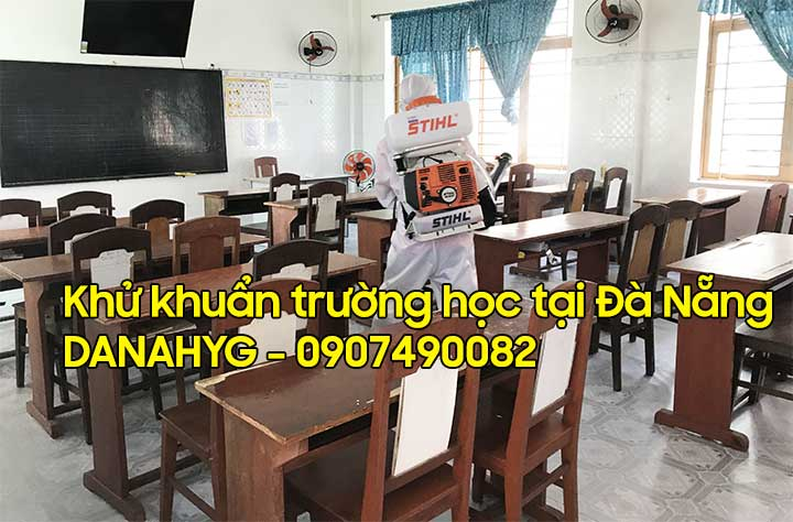 Khử khuẩn trường học tại Đà Nẵng