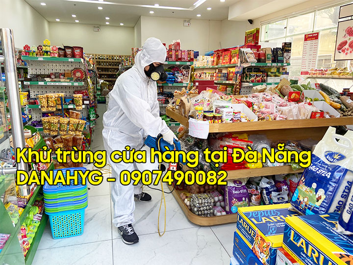 Phun khử khuẩn cửa hàng bán lẻ, shoping, siêu thị mini