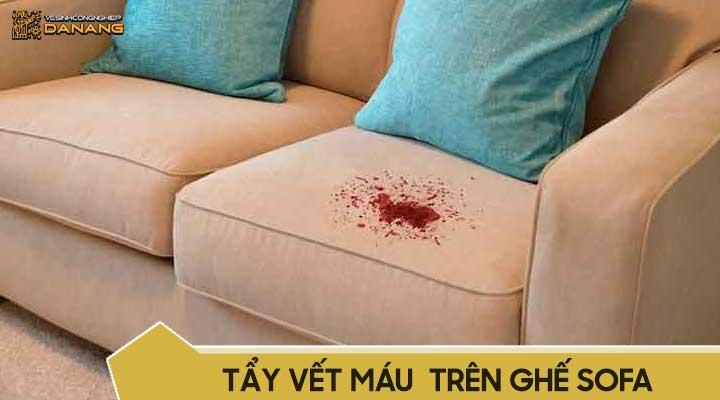 Cách tẩy vết máu trên ghế sofa