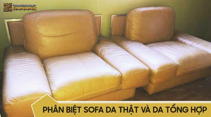 cách phân biệt ghế sofa da thật và da tổng hợp