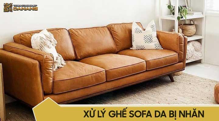 Xử lý ghế sofa da bị nhăn