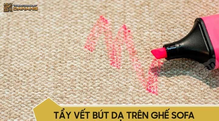 Tẩy vết bút dạ trên ghế sofa
