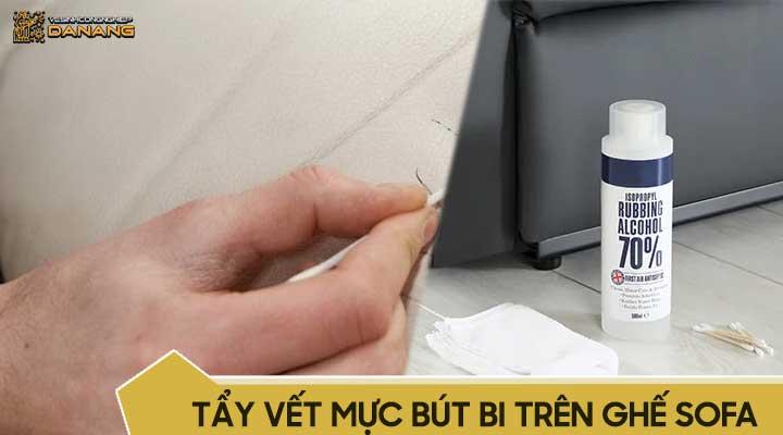 Tẩy vết bút mực, bút bi, bút máy trên ghế sofa da